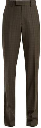 Balenciaga Prince Of Wales Checked High Rise Trousers - Womens - Grey Multi