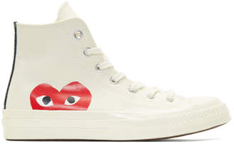 Comme des Garcons Off-White Converse Edition Chuck Taylor All-Star 70 High-Top Sneakers