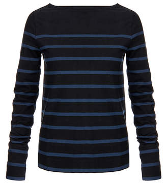 Solid & Striped The Breton Black and Navy Stripe Top