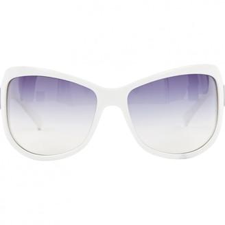 Givenchy White Plastic Sunglasses