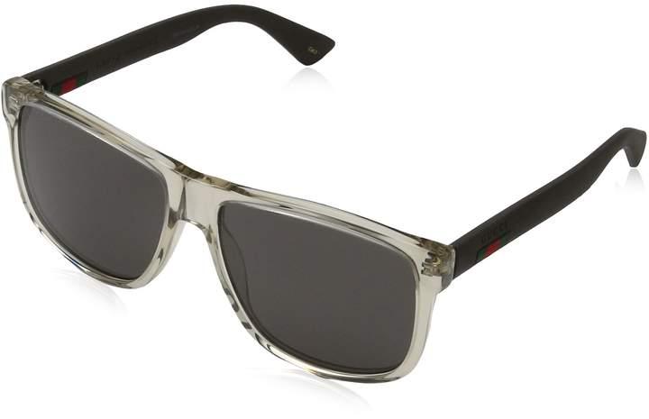 Gucci Men's Anti-reflective GG0010S-005-58 Square Sunglasses