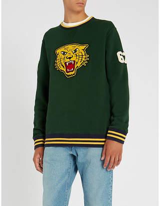 Polo Ralph Lauren Tiger-applique cotton-blend sweatshirt