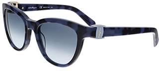 Salvatore Ferragamo SF 817S 235 Havana Blue / Grey Gradient Sunglasses