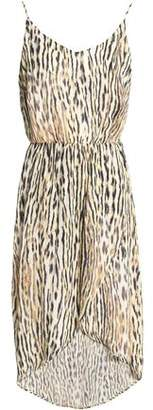 Tart Collections Josefa Wrap-Effect Leopard-Print Chiffon Dress