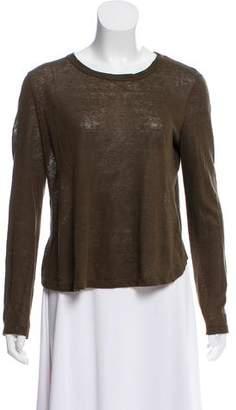 A.L.C. Linen Long Sleeve Knit Top