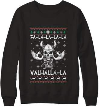 Gildan Great Family Store Fa-la-la-la-la Valhalla-la Christmas Ugly Viking Pullover Sweatshirt