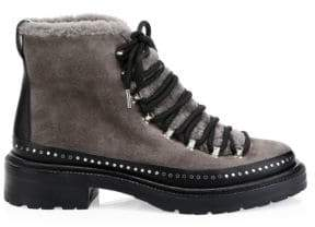 Rag & Bone Compass Shearling-Lined Suede Hiking Boots