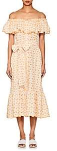 Lisa Marie Fernandez Women's Mira Embroidered-Eyelet Cotton Dress - Orange