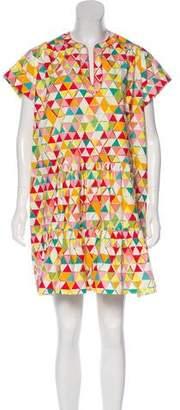 Saloni Printed Ruffle Dress w/ Tags