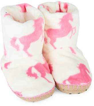 Hatley Kid's Horse-Print Slippers