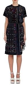 Sacai Women's Fil Coupé Chiffon Tunic Dress-Navy