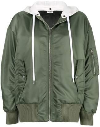 Miu Miu detachable hood bomber jacket