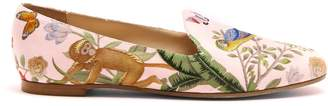AQUAZZURA Aquazzura for de Gournay embroidered loafers $595 thestylecure.com