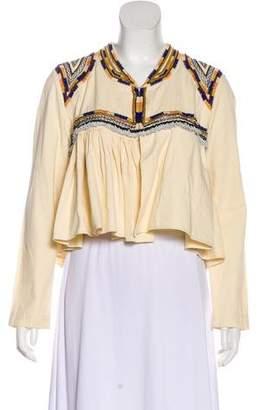 Isabel Marant Embroidered Collarless Jacket