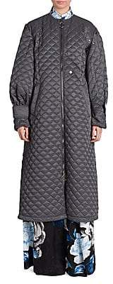 Off-White Women's Quilted Tech Puff-Sleeve Coat