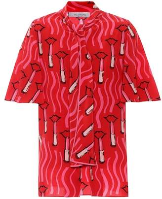 Valentino Printed silk top
