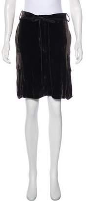 Ann Demeulemeester Velvet Knee-Length Skirt