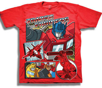 Novelty T-Shirts Short Sleeve Transformers T-Shirt-Preschool Boys