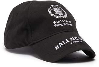 Balenciaga x World Food Programme logo embroidered baseball cap