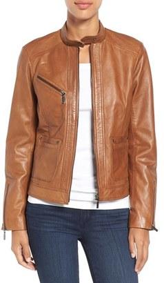 Women's Bernardo Kirwin Leather Jacket $398 thestylecure.com