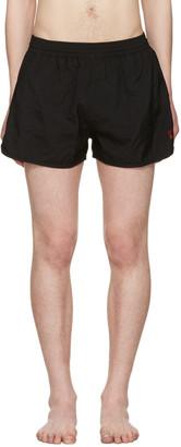 AMI Alexandre Mattiussi Black 'Ami de Coeur' Swim Shorts $170 thestylecure.com