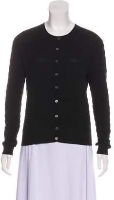 Nina Ricci Silk Button-Up Cardigan