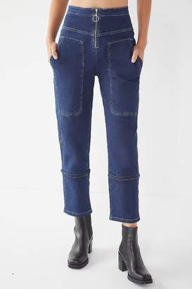 Urban Outfitters Max Contrast Stitch Straight-Leg Jean