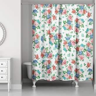 August Grove Filleti Vintage Rose Garden Shower Curtain