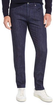 Isaia Men's Dark Wash Straight-Leg Jeans