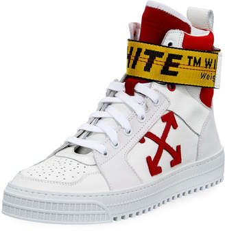 Off-White Off White Men's Industrial Belt-Strap High-Top Sneakers