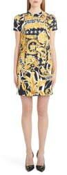 Versace Barocco Print Cutout Shift Dress