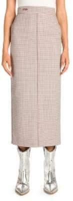 Fendi Check Midi Pencil Skirt
