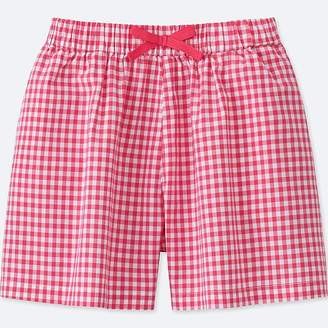 Uniqlo Girl's Printed Easy Flare Shorts