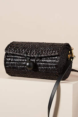 Clare Vivier Bari Straw Roller Bag