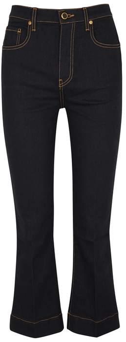 KHAITE Fiona Cropped Flared Jeans