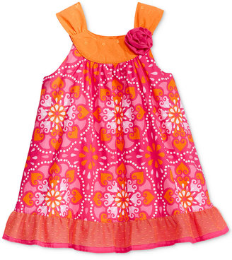 Penelope Mack Kaleidoscope-Print Trapeze Ruffle Dress, Baby Girls (0-24 months) $28 thestylecure.com
