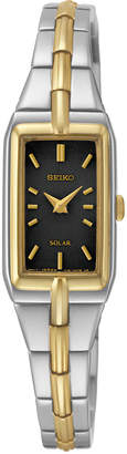 Seiko Women's Solar Two-Tone Stainless Steel Bracelet Watch 15mm SUP274 $295 thestylecure.com
