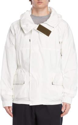 Jil Sander White Funnel Hooded Jacket