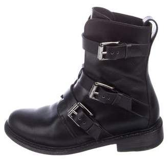 Rag & Bone Leather Buckle Boots