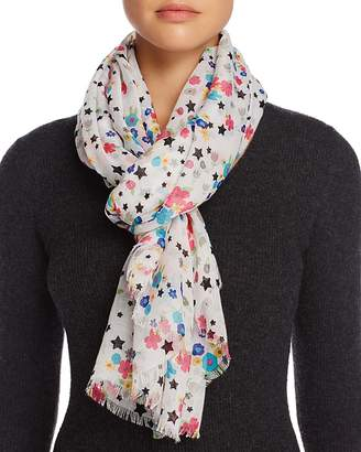 AQUA Star Floral Scarf - 100% Exclusive $48 thestylecure.com