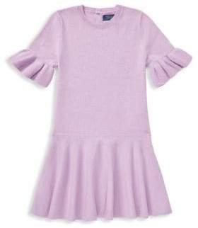 Ralph Lauren Little Girl's& Girl's Wool Ruffled Sweater Dress