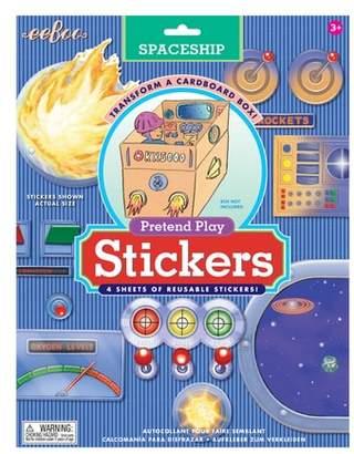 Eeboo Cardboard Box Spaceship Sticker Set