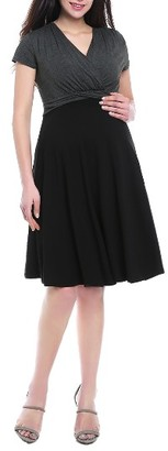 Women's Kimi & Kai Sarah Faux Wrap Maternity/nursing Dress $78 thestylecure.com