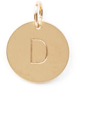 Nashelle D Initial Disc Necklace Charm