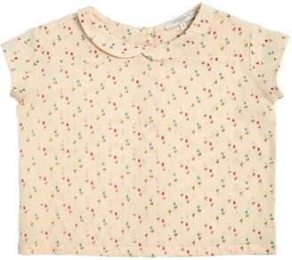 Tulips Printed Cotton Muslin Shirt
