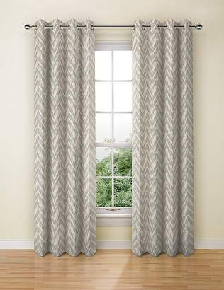 Marks and Spencer Crescent Chevron Eyelet Curtains