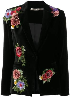 Alice + Olivia Alice+Olivia floral embroidered blazer