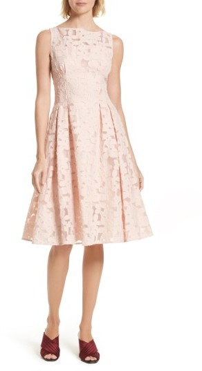 Women's Kate Spade New York Floral Fil Coupe Fit & Flare Dress