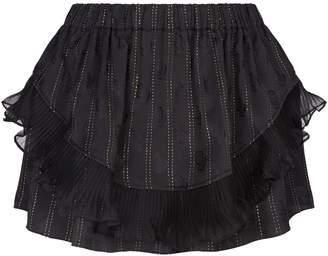 Isabel Marant Moah Ruffled Overlay Shorts