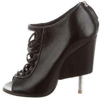 Givenchy Lace-Up Peep-Toe Booties